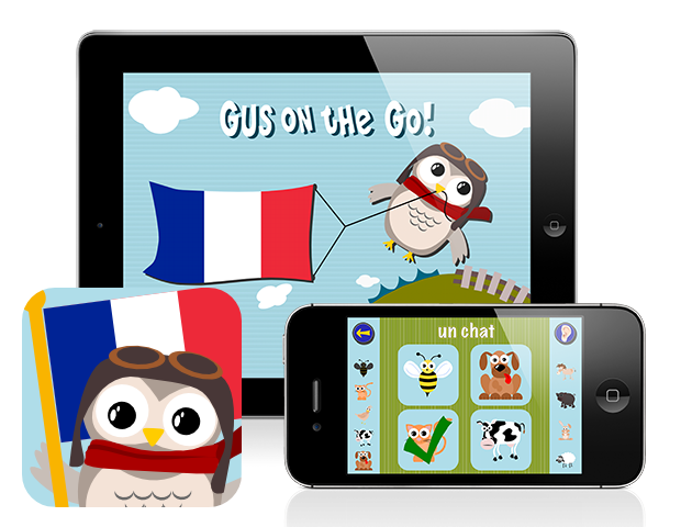 Gus on the Go: French, iOS and Android language app