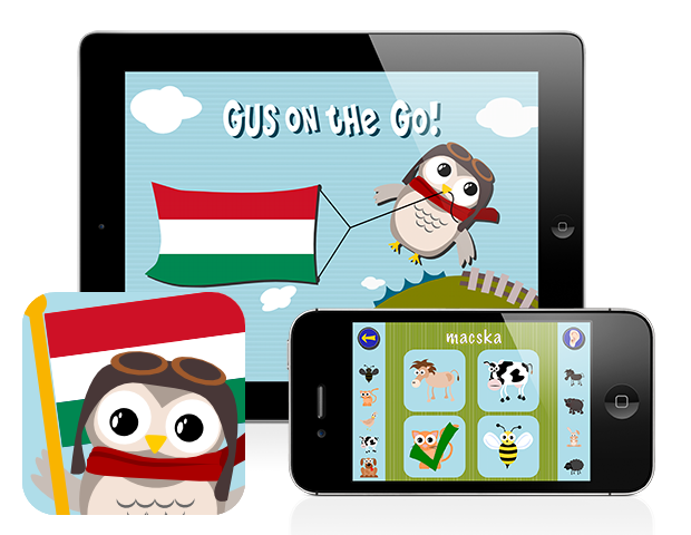Gus on the Go: Hungarian for kids, iOS and Android language app