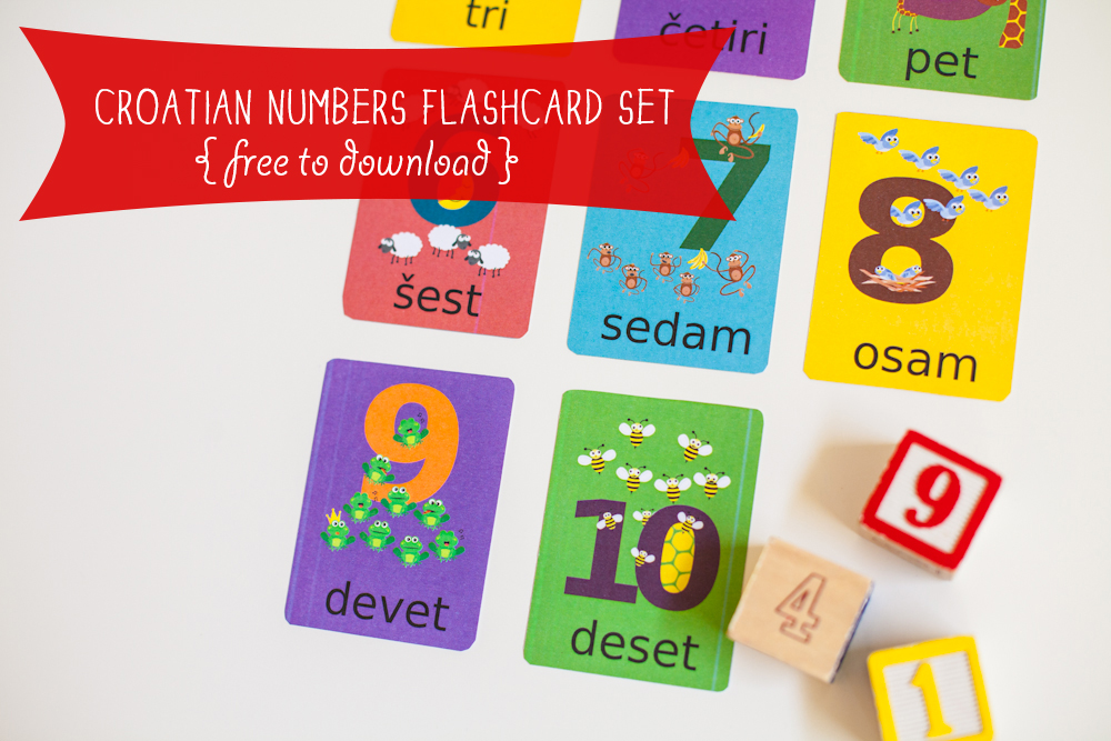 Gus on the Go Croatian Numbers Flashcards