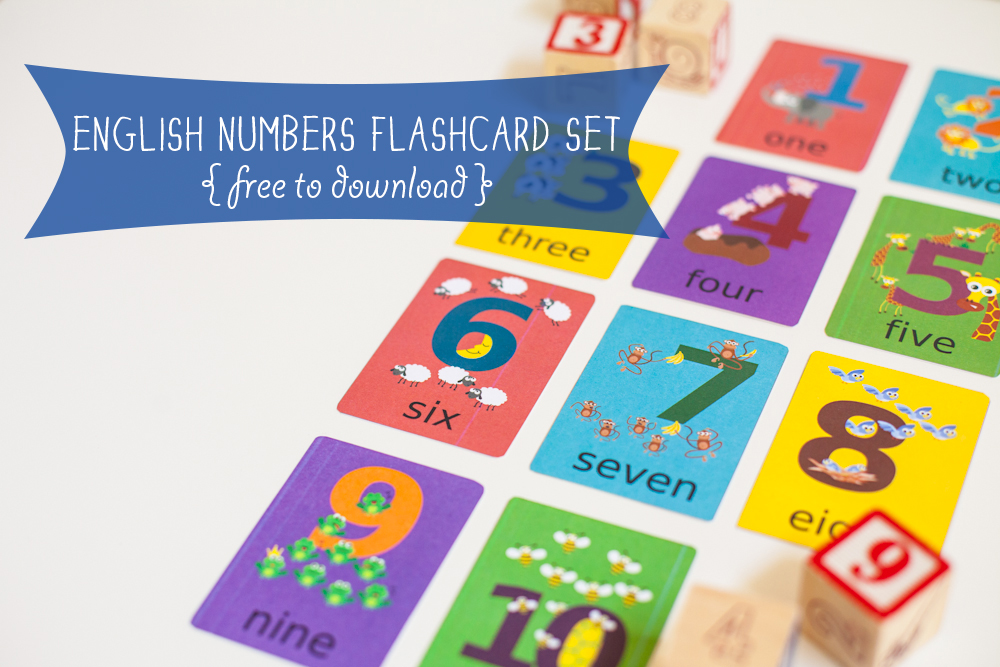 Gus On The Go Number Flashcards English