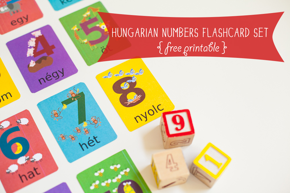 Gus on the Go Hungarian Number Flashcards