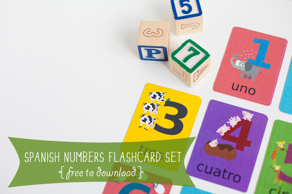 Gus on the Go Number Flashcards Spanish Printable