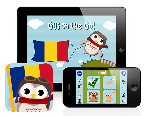 Gus on the Go: Romanian, iOS and Android language app