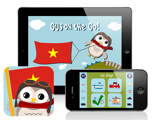 Gus on the Go: Vietnamese for kids, iOS & Android language apps