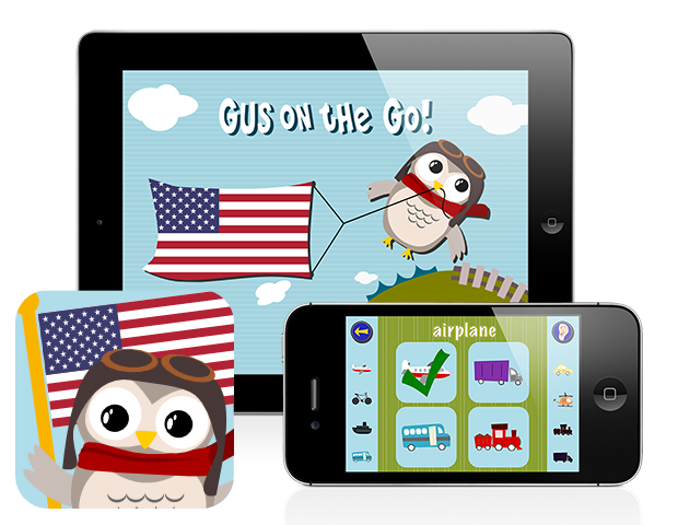 Gus On The Go: English, iOS & Android language app