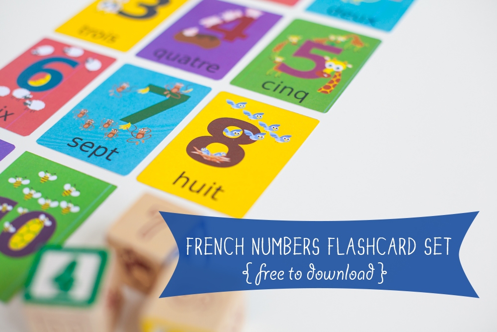 French Numbers Flashcard Printable | Gus on the Go