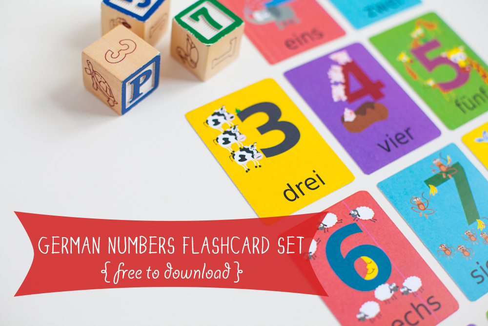Gus on the Go German Numbers Flashcard Printable