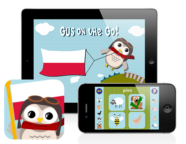 Gus on the Go: Polish for kids, iOS & Android language apps