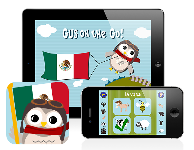Gus on the Go: Spanish, iOS and Android language app