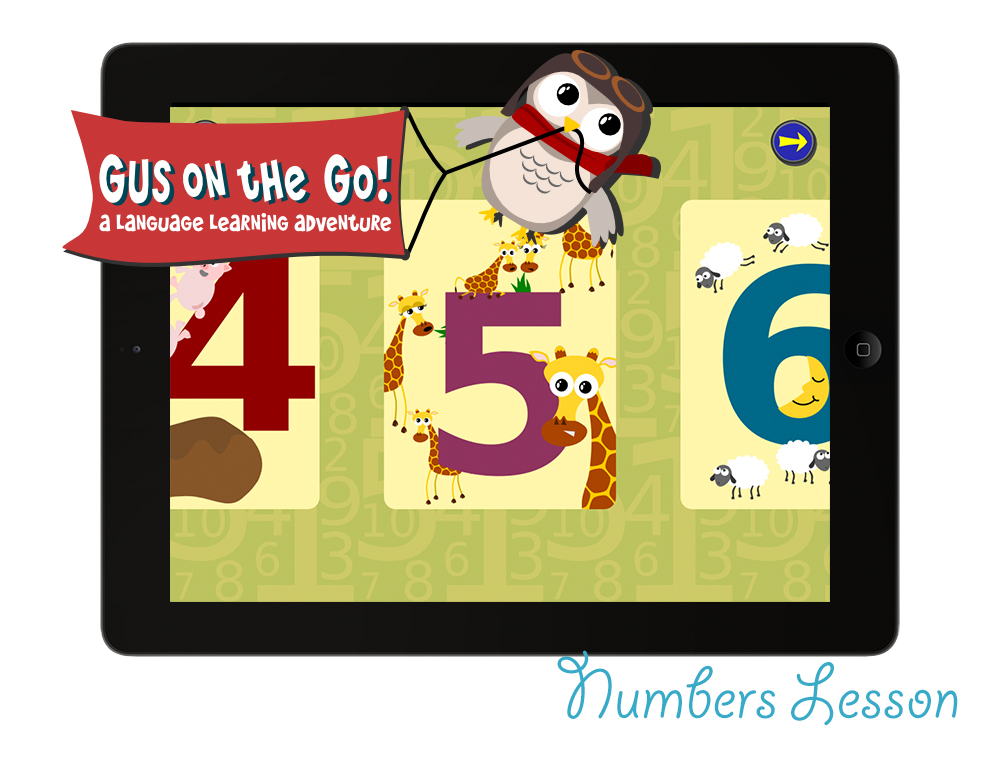 Gus on the Go English Numbers Lesson