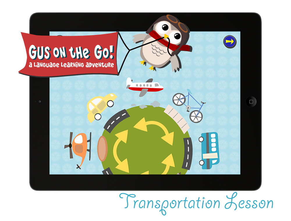 Gus on the Go German language app for kids
