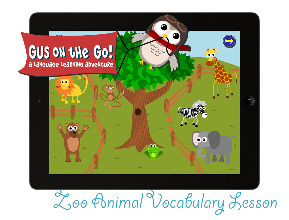 Gus on the Go Hebrew Animal Vocabulary Lesson