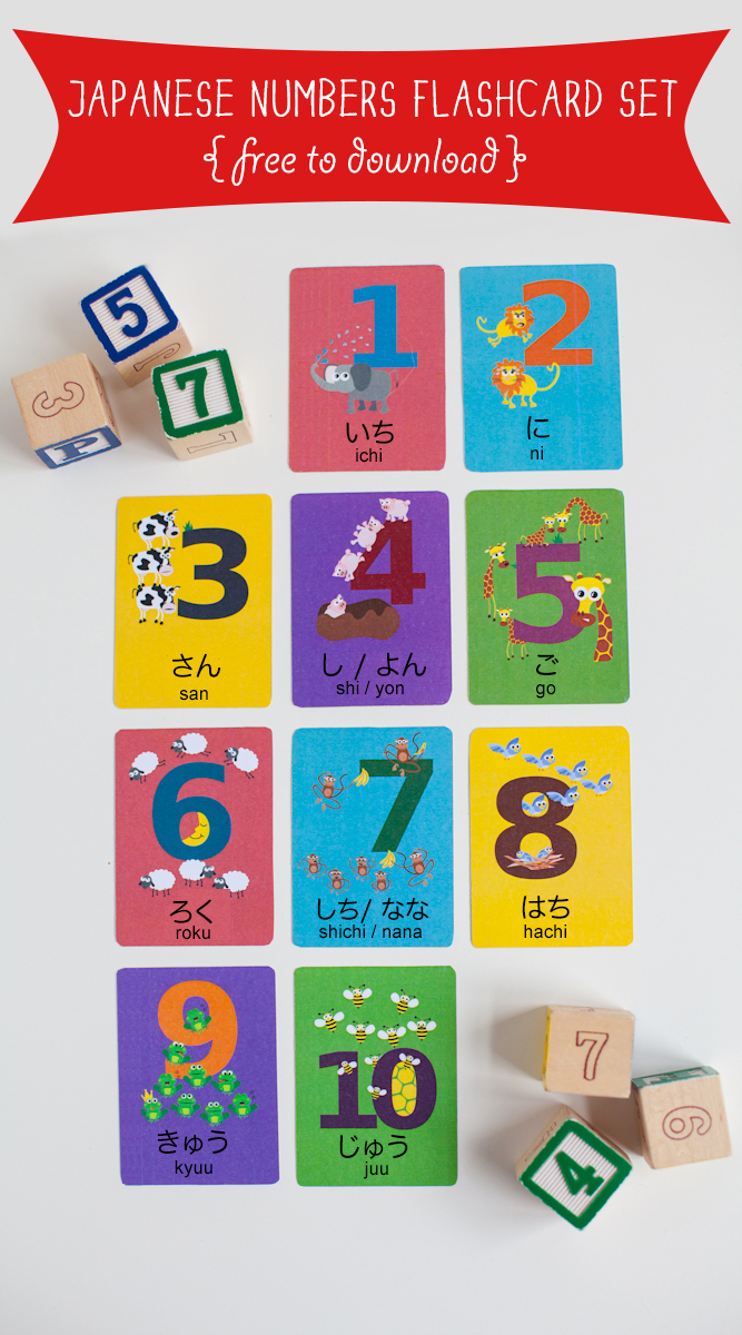 japanese numbers flashcard printable gus on the go language