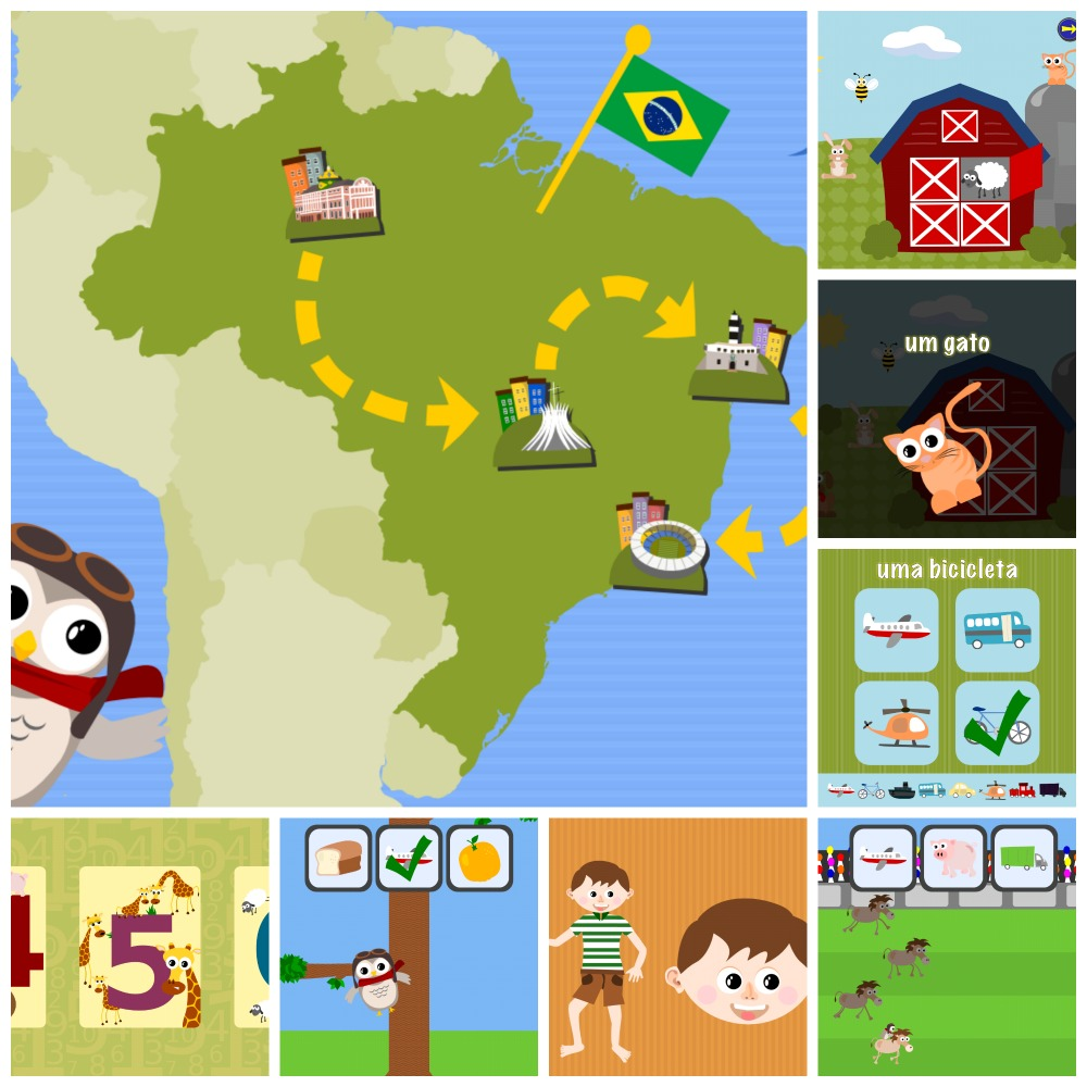 Gus on the Go: Portuguese, iOS and Android language apps for kids