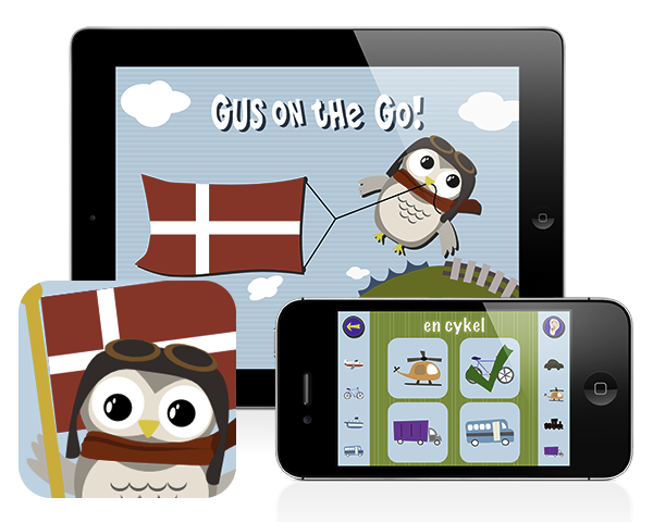 Gus on the Go: Danish, iOS and Android language apps for kids