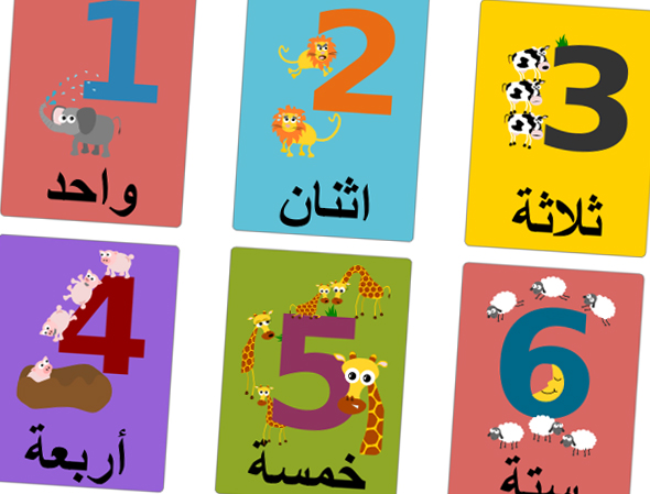 Gus on the Go Arabic Numbers Flashcard Printable